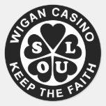 El casino de Wigan guarda la fe Pegatinas Redondas
