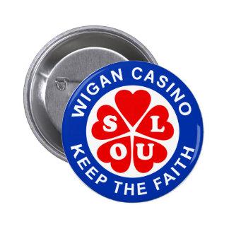 El casino de Wigan guarda la fe Chapa Redonda 5 Cm