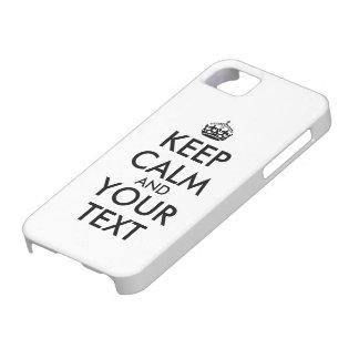 el caso 5s del iphone 5 guarda calma y su iPhone 5 Case-Mate protector