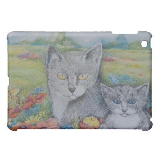 El caso artístico del iPad con los gatos en amapol