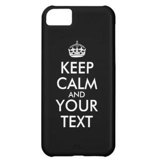 El caso de encargo del iphone 5c guarda calma y su funda para iPhone 5C
