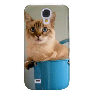 el caso de Iphone del gato Funda Para Galaxy S4