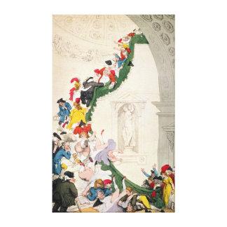 El caso de la mirada fija de la exposición, c.1800 impresiones de lienzo