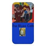El caso de M.A.N. Mural Speck del café de los azul iPhone 4 Cárcasa