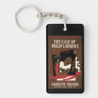 El caso de Philip Lorenzo Llavero Rectangular Acrílico A Doble Cara