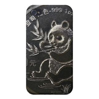 El caso de plata del iPhone de la panda iPhone 4 Cárcasa