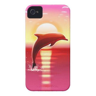 El caso de salto del iPhone 4 del delfín Case-Mate iPhone 4 Protectores
