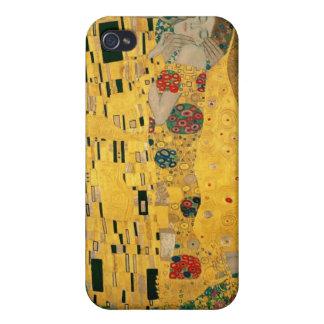 El caso del iPhone 4/4S de la bella arte del beso iPhone 4 Carcasas
