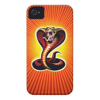 El caso del iPhone 4 de la cobra de expectoración iPhone 4 Cárcasas