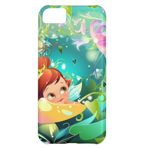 El caso del iPhone 5 del jardín de la fantasía Funda Para iPhone 5C