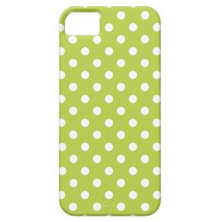 El caso del iPhone 5 del lunar en oferta tira verd iPhone 5 Case-Mate Carcasa