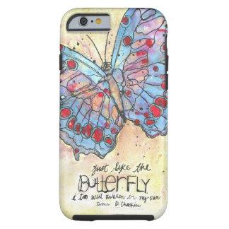 El caso del iPhone 6 de la mariposa Funda De iPhone 6 Tough