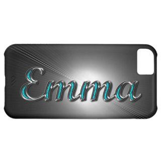 El caso del iPhone de Emma en turquesa y la plat