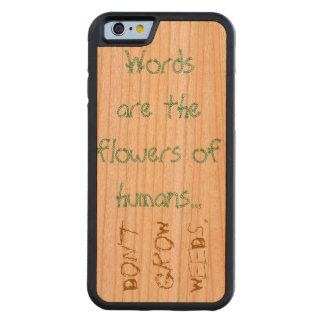 El caso del iPhone de la caja del teléfono habla Funda De iPhone 6 Bumper Cerezo