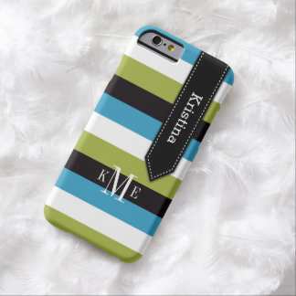 el caso el | del iPhone 6 raya blanco del negro Funda De iPhone 6 Barely There