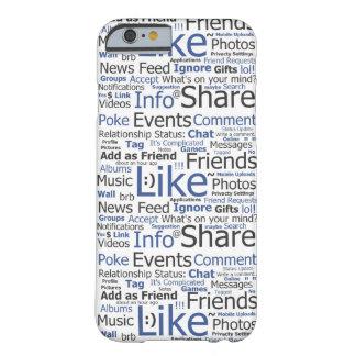 el caso Facebook del iPhone 6 tiene gusto del Funda De iPhone 6 Barely There