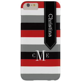 el caso más el | del iPhone 6 raya el | rojo, Funda De iPhone 6 Plus Barely There