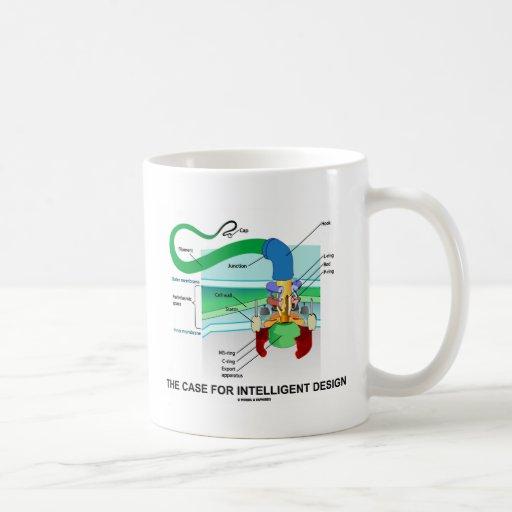 El caso para el diseño inteligente (flagelo) taza básica blanca