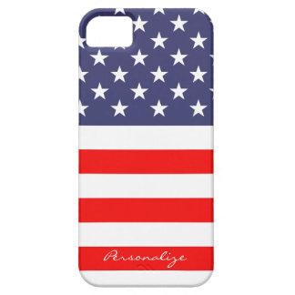 El caso patriótico de Iphone 5 de la bandera ameri iPhone 5 Case-Mate Protectores