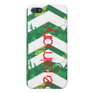 El caso primario del iPhone 4 chapoteo verde iPhone 5 Protector