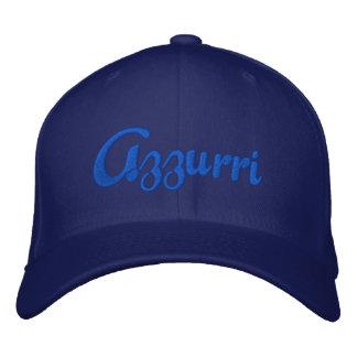 El casquillo azul del logotipo de Azzurri para el  Gorras Bordadas