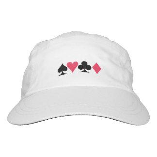 El casquillo blanco del jugador de tarjeta gorra de alto rendimiento