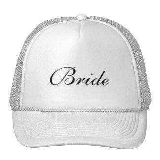 El casquillo blanco y negro formal de la novia gorras