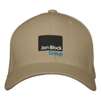 El casquillo bordado grupo del bloque de Jon Gorra De Beisbol Bordada