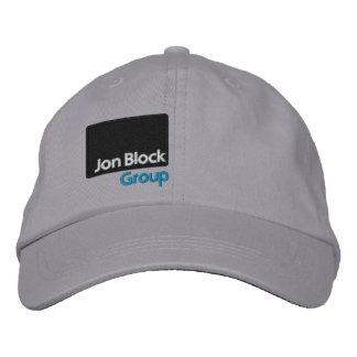 El casquillo bordado grupo del bloque de Jon (lado Gorro Bordado