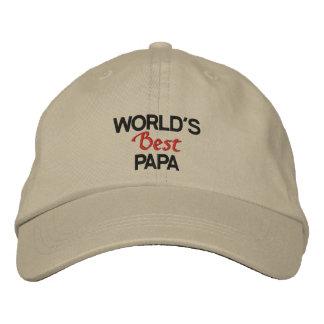 El casquillo bordado la mejor papá del mundo gorra de béisbol bordada
