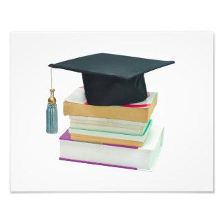 el casquillo de la graduación de la educación rese impresiones fotograficas