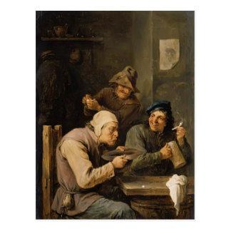 El casquillo de la prisa de David Teniers el más j Postal