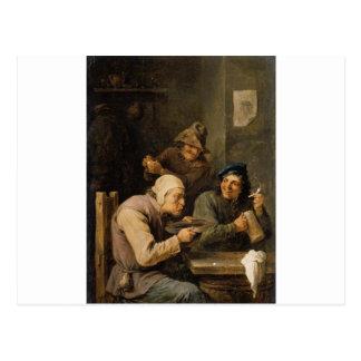 El casquillo de la prisa de David Teniers el más Postal