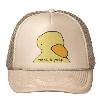El casquillo hace un pío gorras de camionero