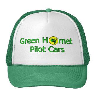El casquillo verde del conductor de coches del pil gorros