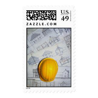 El casquillo y los planes del arquitecto sellos
