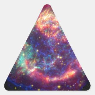 El Cassiopeia una muerte de la supernova… le Pegatinas Trianguladas Personalizadas
