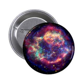 El Cassiopeia una muerte de la supernova… le Pin Redondo De 2 Pulgadas