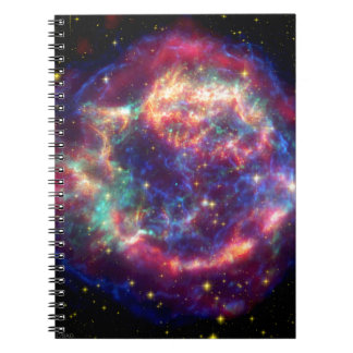 El Cassiopeia una muerte de la supernova… le sient Libreta