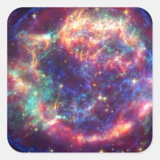 El Cassiopeia una muerte de la supernova… le sient Pegatina Cuadradas Personalizada