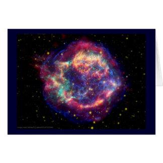 El Cassiopeia una muerte de la supernova… le sient Tarjeta De Felicitación