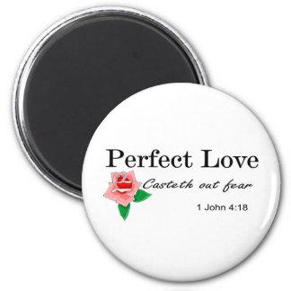 El casteth perfecto del amor hacia fuera teme imán redondo 5 cm
