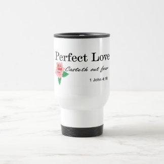 El casteth perfecto del amor hacia fuera teme taza térmica