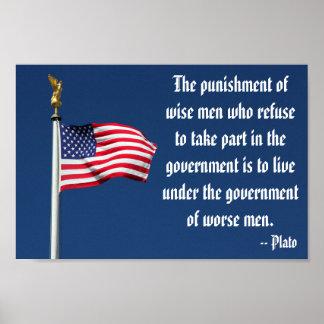 El castigo de hombres sabios, poster de Platón Póster