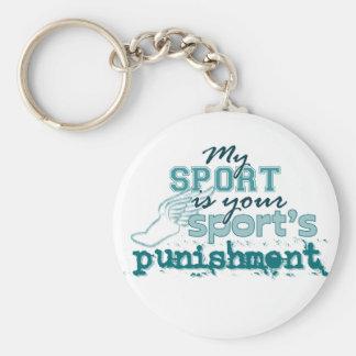 El castigo de su deporte (trullo) llaveros