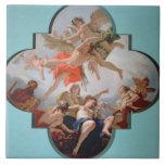El castigo del Cupid (aceite en lona) Azulejo Cuadrado Grande