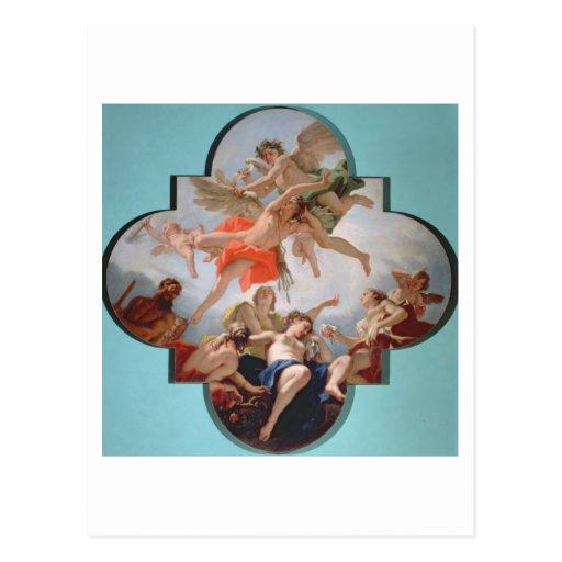 El castigo del Cupid (aceite en lona) Postal