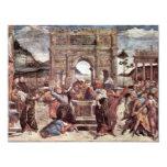 El castigo del detalle de Leviter de Botticelli Invitación 10,8 X 13,9 Cm