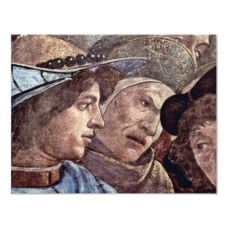 """El castigo del detalle de Leviter de Botticelli Invitación 4.25"""" X 5.5"""""""