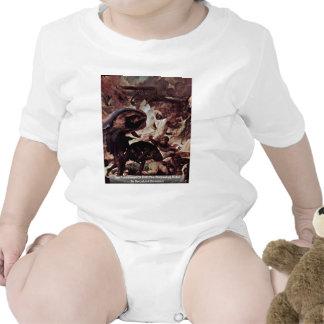 El castigo del detalle del infierno el día del ju traje de bebé